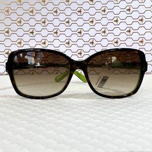 NWT kate spade Ailey Sunglasses Tortoise and Kiwi